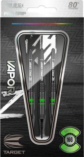 Vapor Z Black Green 80% Softtip Darts | Darts Warehouse