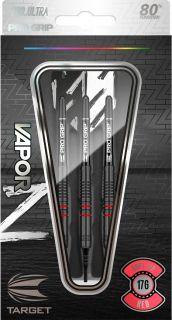 Vapor Z Black Red 80% Softtip Darts | Darts Warehouse