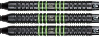 Vapor8 Black Green 80% Softtip Darts | DartsWarehouse