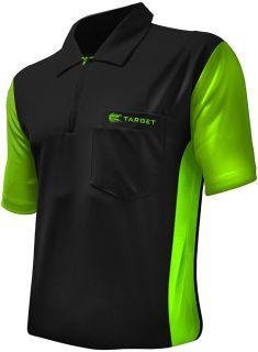 Coolplay Hybrid 3 Black Light Green Target Dartshirt | Darts Warehouse