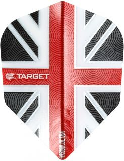 Vision Ultra UK Flag Clear Red   Target Dartflights   Darts Warehouse