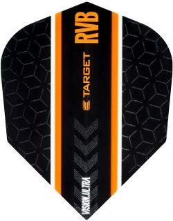 Vision Ultra Player RVB Black Std.6 Target Flight   Darts Warehouse