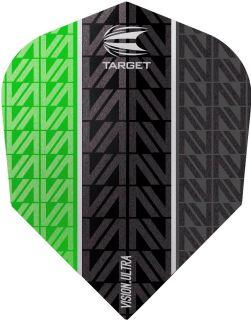 Vision Ultra Vapor8 Black Green Std.6 Target Dartflights   Darts Warehouse