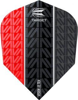 Vision Ultra Vapor8 Black Red Std.6 Target Dartflights   Darts Warehouse