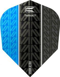 Vision Ultra Vapor8 Black Blue Std.6 Target Dartflights   Darts Warehouse
