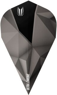 Target Vision Ultra Shard Chrome Black Vapor Flights| Darts Warehouse