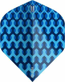 Vision Fabric Blue Std. Target Dartflights | Darts Warehouse
