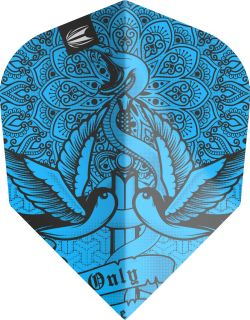 Vision Ultra Ink Blue Std.6 Target Dartflights | Darts Warehouse