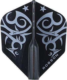 Robson Plus Flight Std. Tribe White | Darts Warehouse