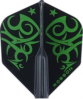 Robson Plus Flight Std. Tribe Green | Darts Warehouse