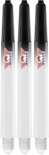 Airstriper Medium Clear Color Logo Bull's Nylon Shafts | Darts Warehouse