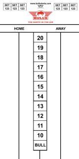 Darttel Flex 60x30 cm   Bull's Scorebord   Darts Warehouse
