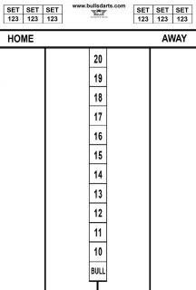 Darttel Flex LB 60x30 cm Bull's Scorebord