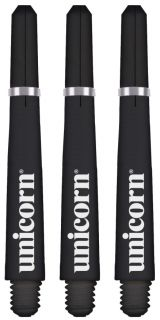 Unicorn Gripper 4 Short Black Shafts   Darts Warehouse