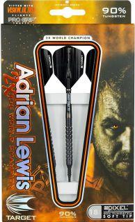 Adrian Lewis Pixel Grip Target Softtip | Darts Warehouse