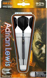 Target Adrian Lewis Black Titanium Pixel Grip 90% | Darts Warehouse