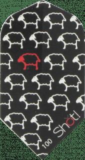 Shot Branded Black Sheep Slim Dartflight   DartsWarehouse