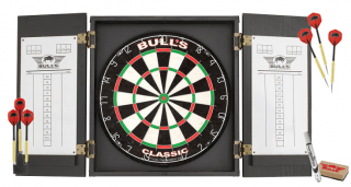 Classic Kabinet Dartbord Set | Bull's Dartartikelen Set | Darts Warehouse
