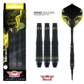 Softtip Smoke 80% Gold Bull's NL Darts | Darts Warehouse