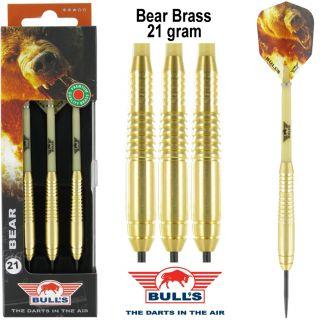 Bear Brass Bull's Dartpijlen voor kinderen 21 gram | Darts Warehouse