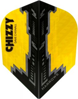 Harrows Dave Chisnall Yellow Black Std.6 Flights   Darts Warehouse