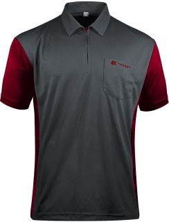 Coolplay 3 Hybrid Grey Ruby Red Target Dartshirt | Darts Warehouse