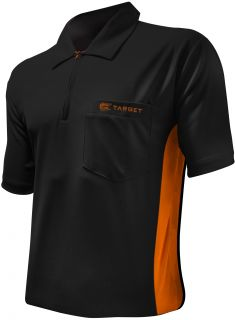 Coolplay Hybrid Black Orange Target Dartshirt | Darts Warehouse