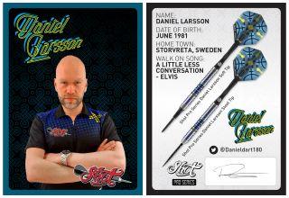 Daniel Larsson Signcard   Darts Warehouse