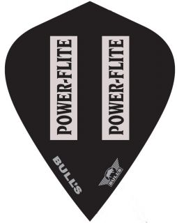 Powerflite L Kite Black Clear Bull's Powerflite   Darts Warehouse