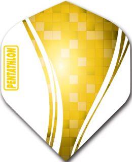 Pentathlon Std. Swirl Yellow | Darts Warehouse Dart Flights