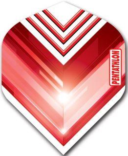 Pentathlon Std. V Red | Darts Warehouse Dart Flights