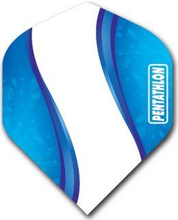 Pentathlon Std. Spiro Blue | Darts Warehouse Dart Flights