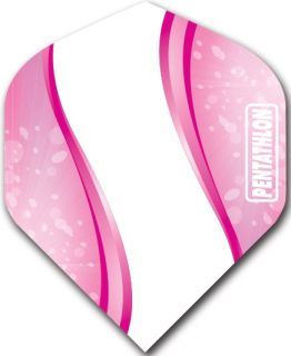 Pentathlon Std. Spiro Pink | Darts Warehouse Dart Flights