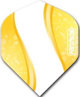 Pentathlon Std. Spiro Yellow | DartsWarehouse Dart Flights