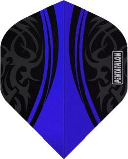 Pentathlon Std. Tribal Blue | Sterke Dartflights | Darts Warehouse