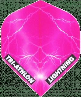Triathlon Lightning Std. Clear Pink   Darts Warehouse