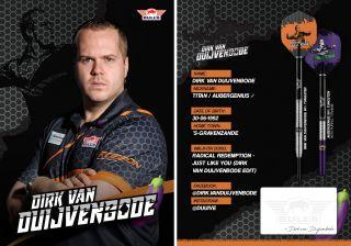 Dirk van Duijvenbode Handtekening Kaartje 2019 | Darts Warehouse