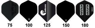 Flight Dikte Testkit Black   Dartflights   Darts webwinkel Dartswarehouse