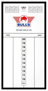 Styreen Scorebord 60x30 cm Black   Darts Warehouse