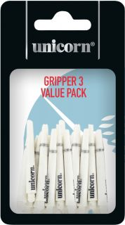 Gripper 3 Short White Unicorn Shafts   Darts Warehouse
