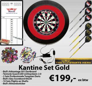 Kantine Set Gold | Bedrijfskantine Darten | Darts Warehouse