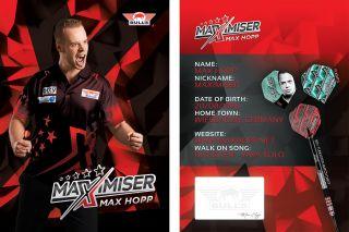 Max Hopp Handtekeningkaart 2020 | Darts Warehouse