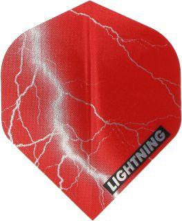 Metallic Lightning Std. Red   McKicks Dartflights   DartsWarehouse
