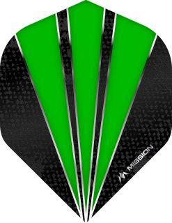 Mission Flare Green Std. Dartflight | Darts Warehouse