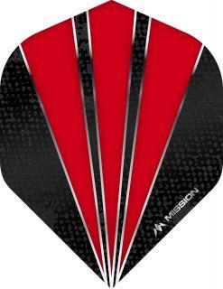 Mission Flare Red Std. Dartflight | Darts Warehouse