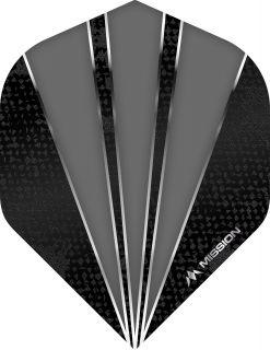Mission Flare Grey Std. Dartflight | Darts Warehouse