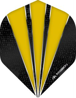 Mission Flare Yellow Std. Dartflight | Darts Warehouse