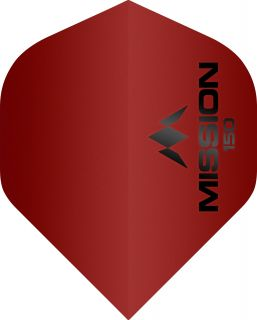 Mission Logo 150 Std. Red Dartflight | Darts Warehouse