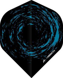 Mission Nova Std. Black Blue Dartflight | Darts Warehouse