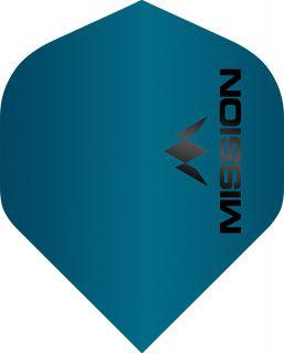 Mission Logo 100 Std. Matt Blue Dartflight | Darts Warehouse